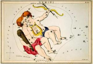 Castor and Pollux Twins Constellation