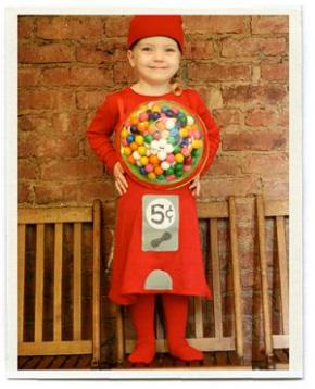 Girl As Gumball Machine