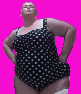 Chubby Woman in Bathing Suit