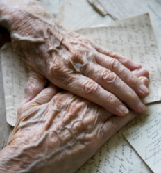 Old-Woman Hands Crossed