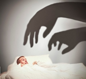 Scary Hand Shadows Approaching Bed