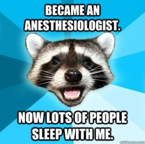 Anesthesiologist Sleep With Me Raccoon