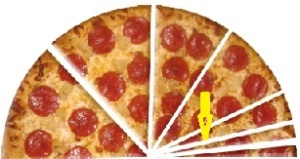 Half Pizza With Thin Slices