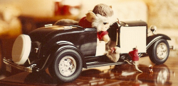 Monk and Roo in 32 Ford Roadster