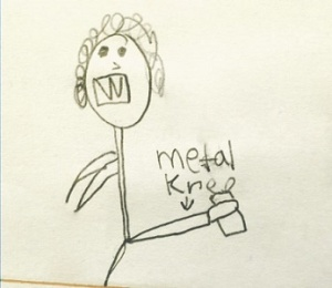 Metal Knee Child Drawing