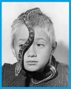 Boy With Snake On Head