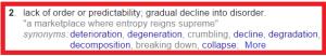 Entropy Definition