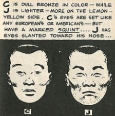 Chinese Vs Japanese Racist Drawing