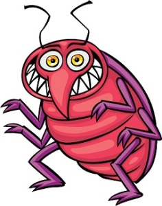 Red Pointy-Nosed Bug Cartoon