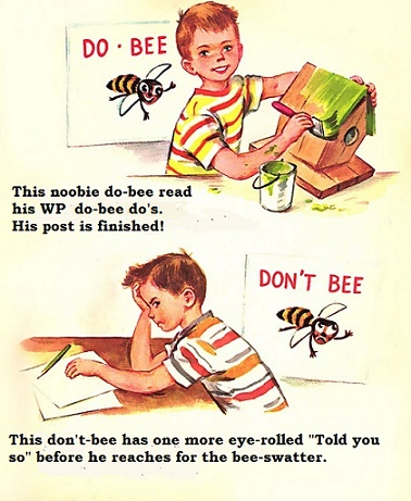 Twins With Do-Bee Dont-Bee Signs