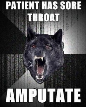 Amputate Sore Throat Insanity Wolf