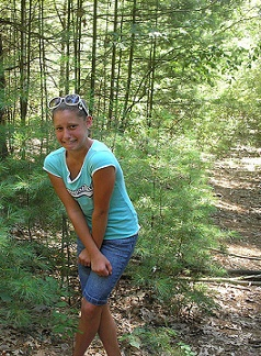 Girl Has To Pee In the Woods While Camping