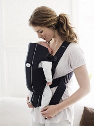 Sleeping Baby in Front Carrier