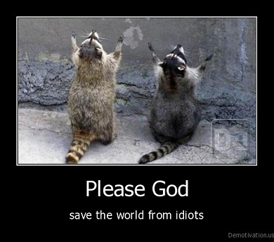 Please Save Us From Idiots