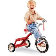 Happy Child on Red Tricycle