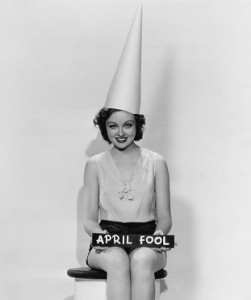 April Fool in Dunce Cap