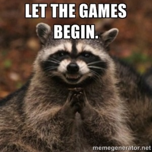 Let the Games Begin Raccoon